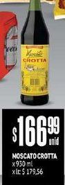 Oferta de Moscato Crotta x 930 ml  por $166,99