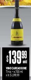 Oferta de Vino Carcassonne x 700 ml  por $139,99