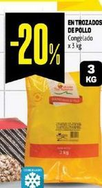 Oferta de Entrozados de Pollo Congelado x 3 Kg  por