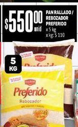 Oferta de Pan Rallado/ Rebozador Preferido x 5 Kg  por $550