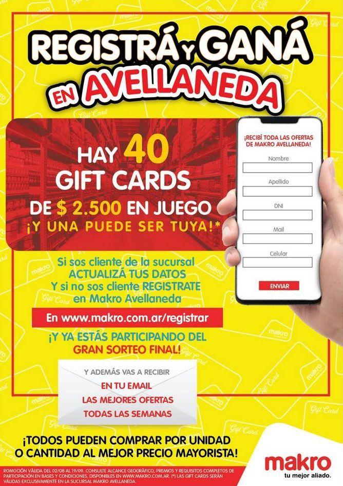 Oferta de Registrá y Ganá en Avellaneda por