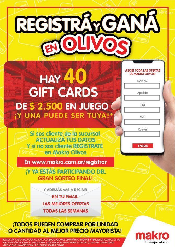 Oferta de Registrá y Ganá en Olivos por