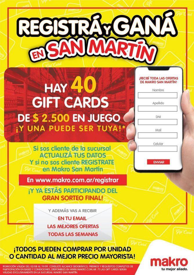 Oferta de Registrá y Ganà en San Martín por