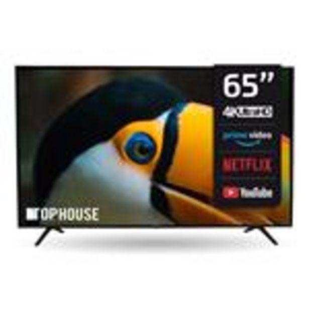 """Oferta de Smart Tv Led   TOP HOUSE 65"""" 4K Th6521uh6 por $110499"""