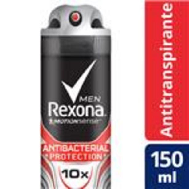 Oferta de Desodorante Antitraspirante REXONA MEN  Antibacterial  Aerosol 150 Cc por $107,99