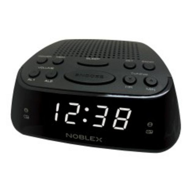 Oferta de Radio Reloj Despertador Noblex Rj960 Alarma Am/fm Digital por $2078
