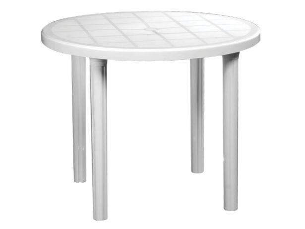 Oferta de Mesa de jardín Voss 2000 Antillas 90 cm diámetro blanca / negra por $6199