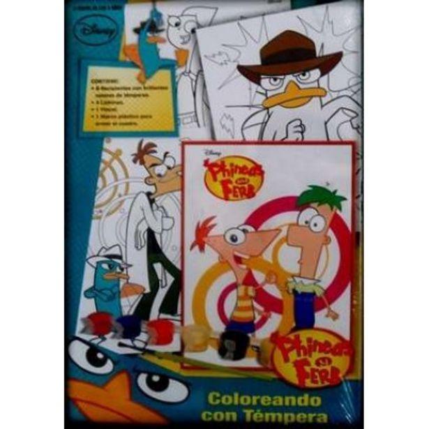 Oferta de Coloreando Con Temperas Phineas Y Ferb por $837