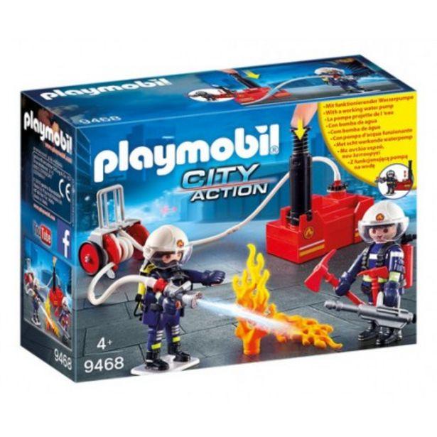 Oferta de Bomberos Con Bomba De Agua - Playmobil por $11466