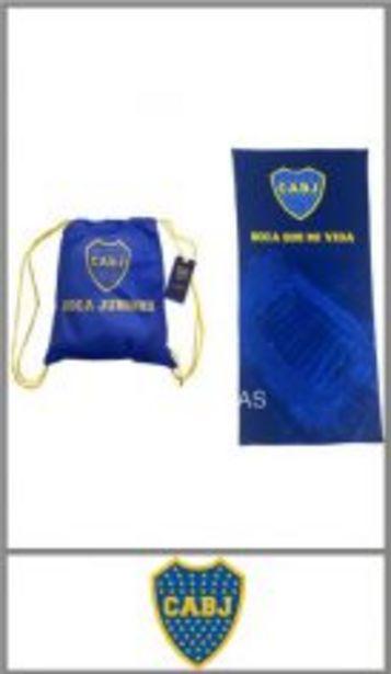 Oferta de Toallon deportivo BOCA JUNIORS OFICIAL microfibra estampado 70cm x 150c por $829,99