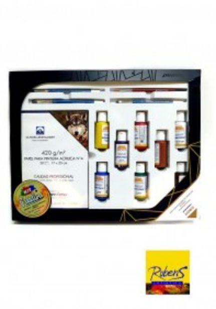 Oferta de KIT Plantec CREATIVO con acrílicos , block y pinceles por $5699,9