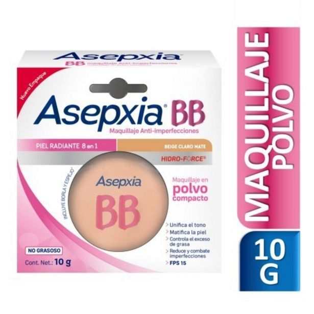 Oferta de Asepxia Maquillaje Antiacnil Beige Claro Polvo por $586