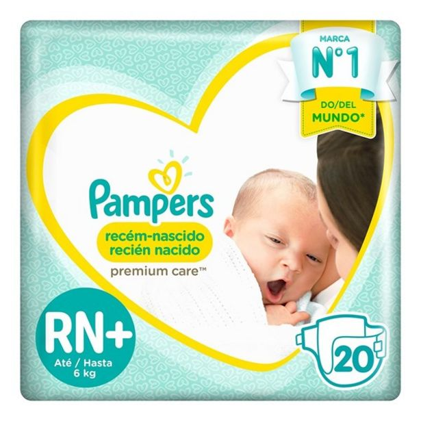 Oferta de Pañales Pampers Recién Nacido Rn+ 20 Unidades por $667,81