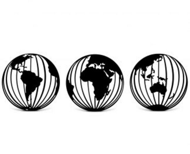 Oferta de Cuadro Redondo Triptico Mundos por $4160