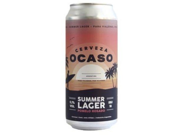 Oferta de Ocaso Summer Lager 473 Con Lata por $186