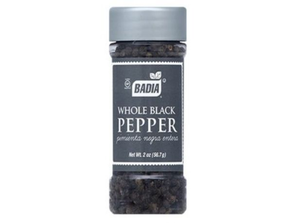 Oferta de Badia Pimienta Negra En Granos 56.7 Grs por $477