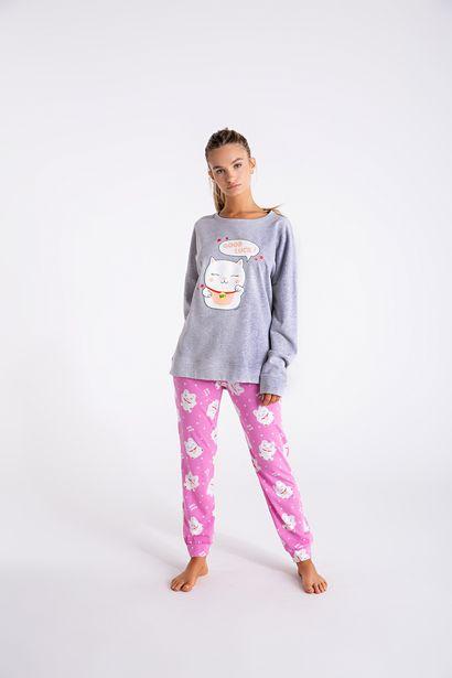 Oferta de Pijama buzo con babucha - Fortune cat por $6029