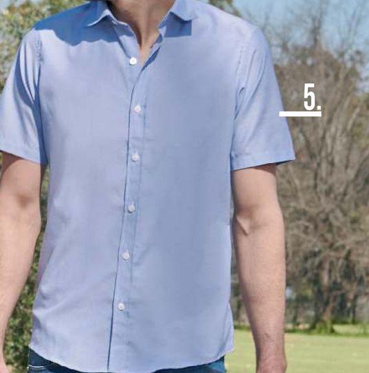 Oferta de Camisa Hombre M/C Poplin rayas por $3699