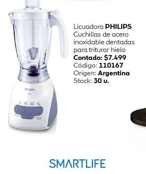 Oferta de Licuadora PHILIPS Cuchillas de acero por $7499