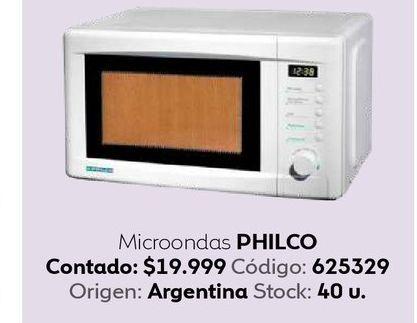 Oferta de Microondas Philco por $19999