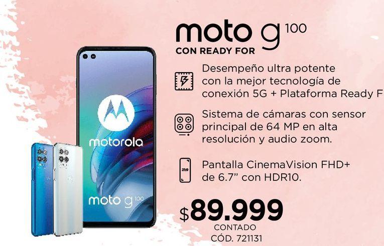 Oferta de Moto G100 por $89999