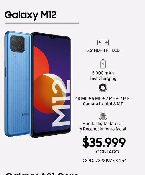 Oferta de Galaxy M12 por $35999