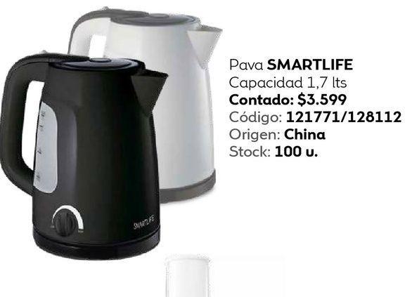 Oferta de Pava SMARTLIFE Capacidad 1,7 lts por $3599