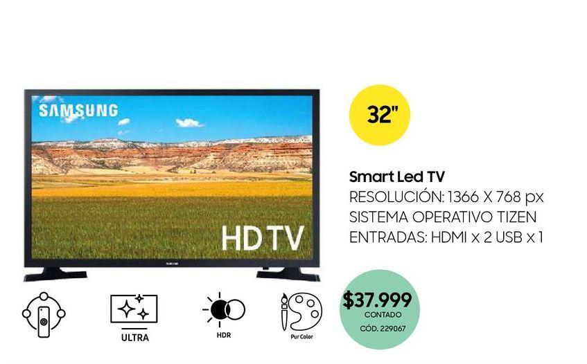 """Oferta de Smart Led TV 32"""" por $37999"""