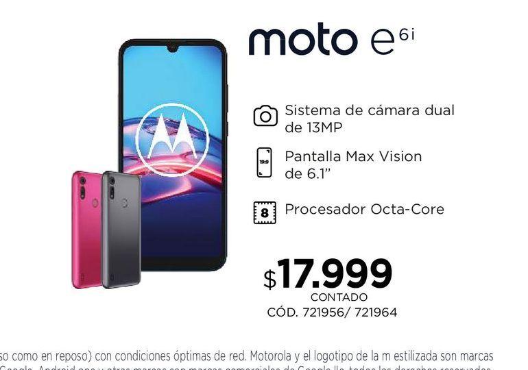 Oferta de Moto E6i por $17999