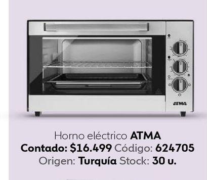 Oferta de Horno eléctrico Atma por $16499