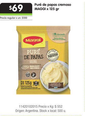 Oferta de Puré de papas cremoso MAGGI x 125 gr por $69