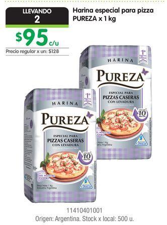 Oferta de Harina especial para pizza PUREZA x 1 kg por $95