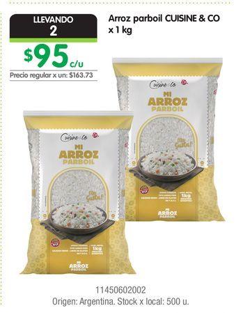 Oferta de Arroz parboil CUISINE & CO x 1 kg por $95