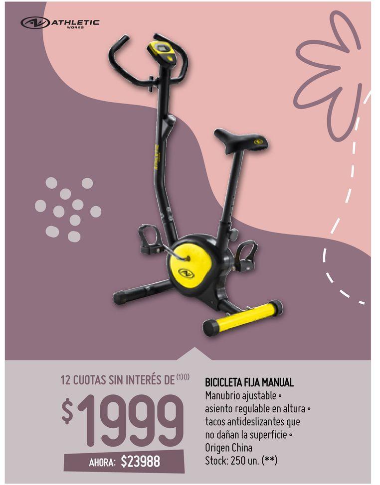 Oferta de BICICLETA FIJA MANUAL por $23988