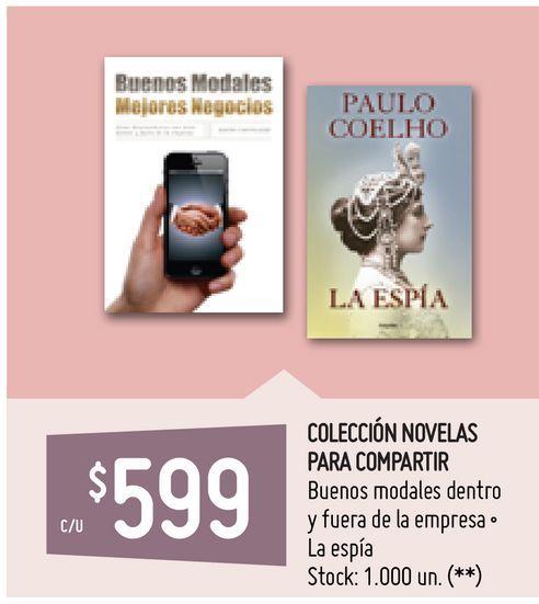 Oferta de COLECCIÓN NOVELAS PARA COMPARTIR por $599