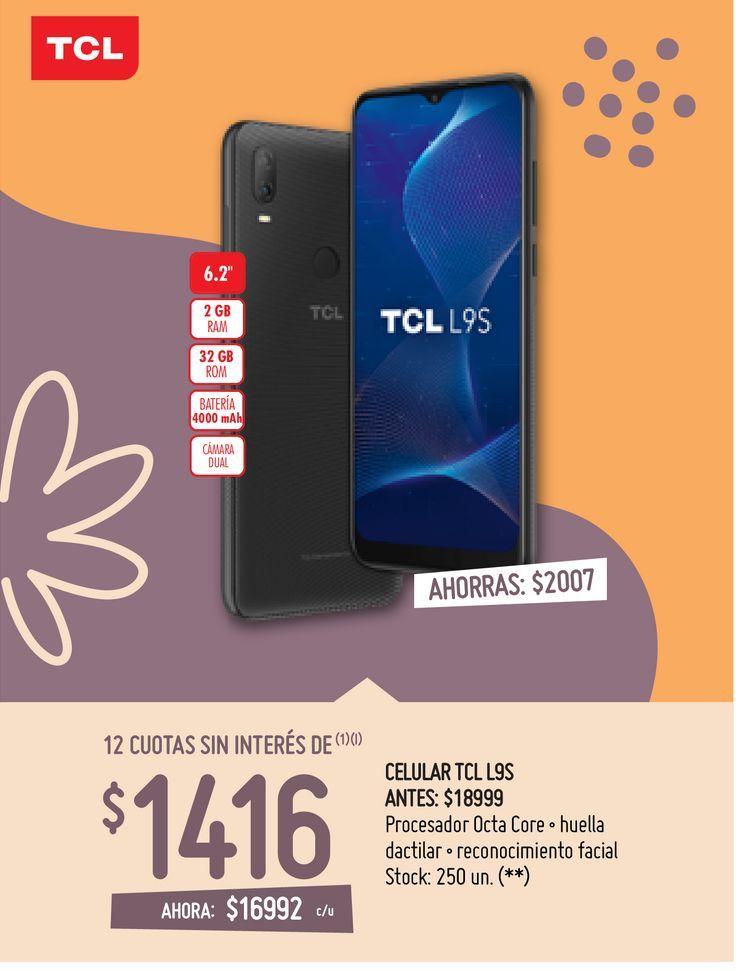 Oferta de CELULAR TCL L9S por $16992