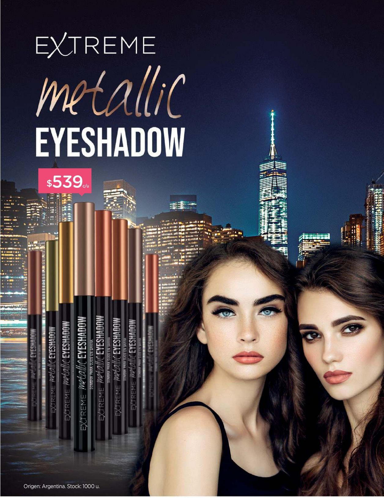 Oferta de Sombra de Ojos en Barra Extreme Metallic Eyeshadow Gold Shimmer por $539
