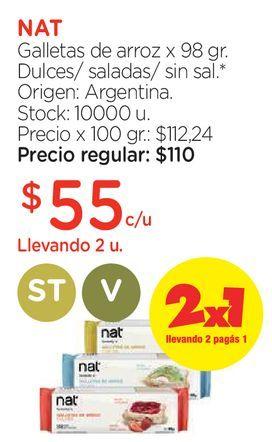Oferta de Galletas de arroz x 98 gr. por $55
