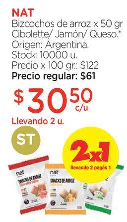 Oferta de Bizcochos de arroz x 50 gr por $30,5