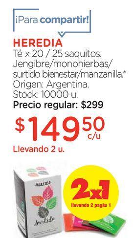 Oferta de Té x 20 / 25 saquitos Jengibre / Monohierbas/ surtido por $149,5
