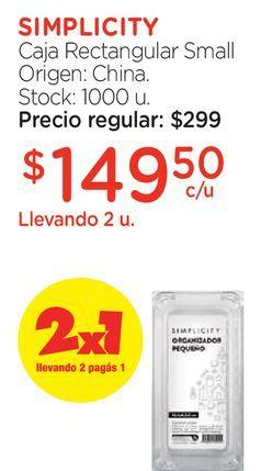 Oferta de Caja Rectangular Small por $149,5