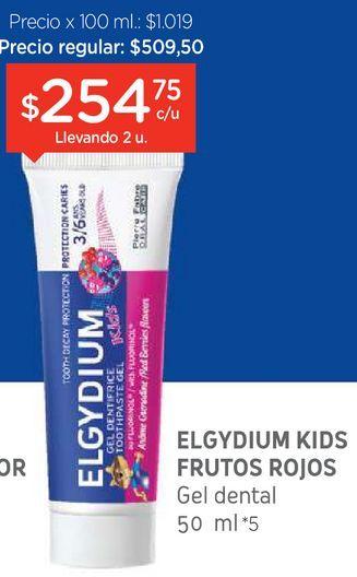 Oferta de Crema dental kids frutos rojos x 50 ml por $254,75