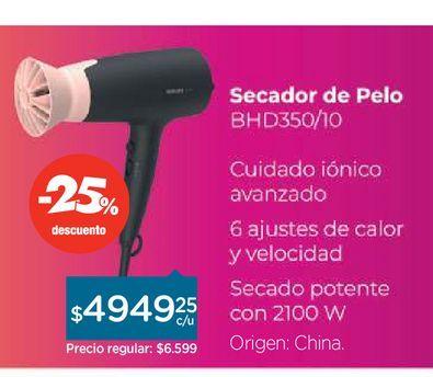 Oferta de Philips Secador de Pelo Philips por $6599