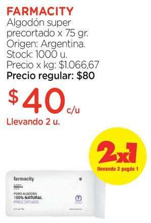 Oferta de Algodón super precortado x 75 gr. por $40