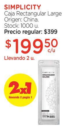 Oferta de Caja Rectangular Large por $199,5