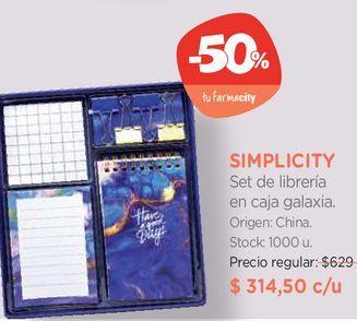 Oferta de Set de librería en caja galaxia. por $314,5