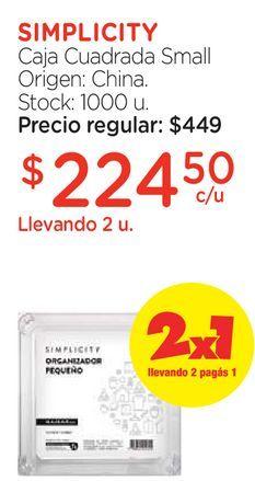 Oferta de Caja Cuadrada Small por $224,5