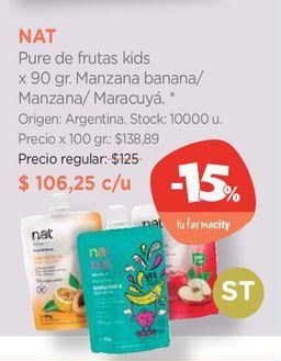 Oferta de Pure de frutas kids x 90 gr. por $106,35