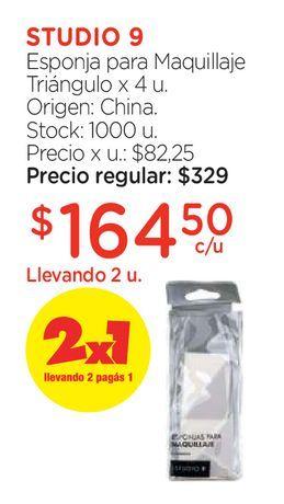 Oferta de Esponja para Maquillaje Triángulo x 4 u. por $164,5