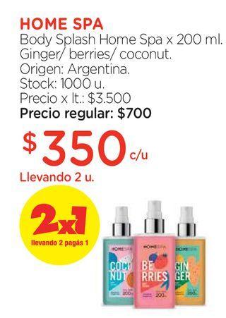 Oferta de Body Splash x 125 ml. por $350